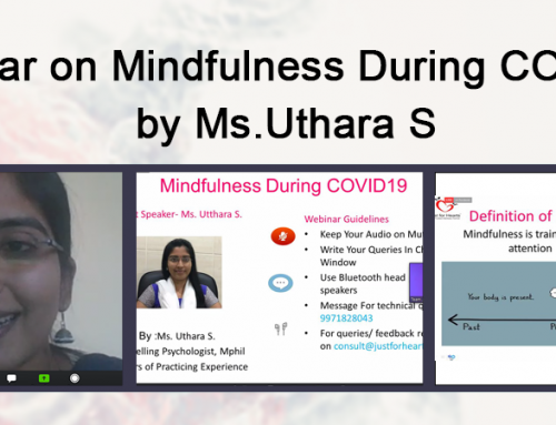 Webinar- Achieving mindfulness in the Lockdown