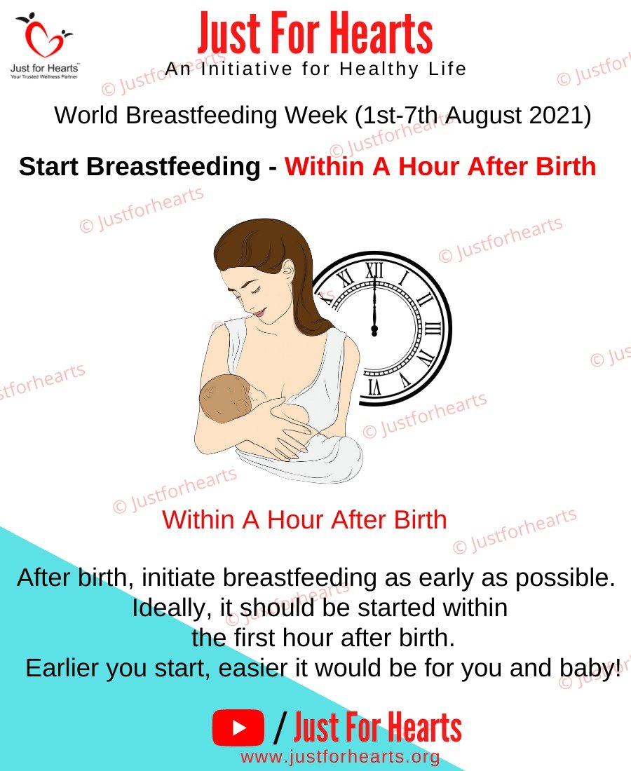 Start breastfeeding with in one hour