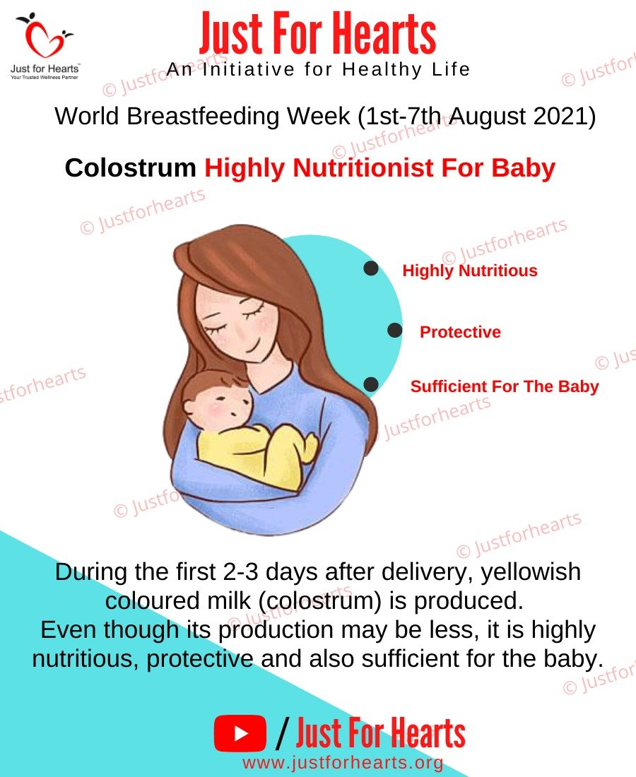 Colostrum highly Nutritious for Baby
