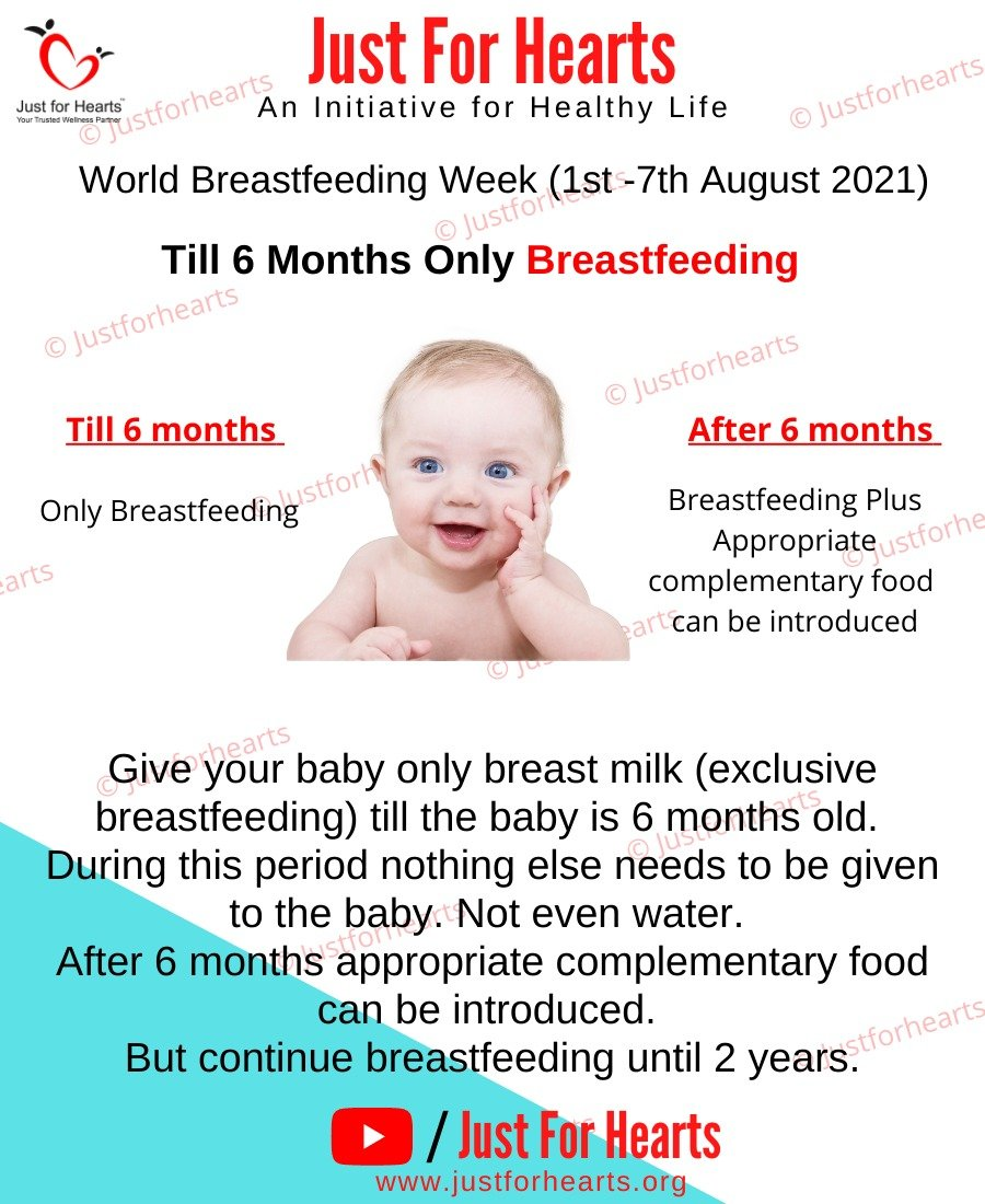 Breast feeding only till 6 months